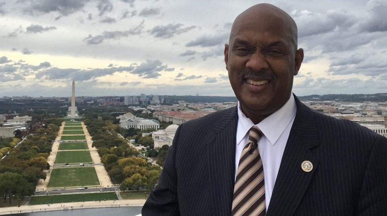 Congressman Dwight Evans visits the Capitol Dome.