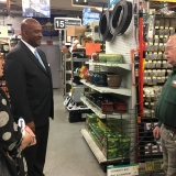 Congressman Evans at Ricklin's Hardware store in Narberth, PA