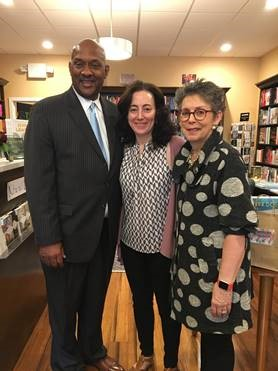 narberth bookstore owners with Congressman Dwight Evans